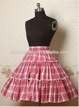 hot sale Ruffles Plaid Cotton Lolita Skirt halloween party costume Christmas long dress for beauty