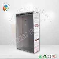 Customize wall mounted acrylic guitar display case with hinged door wall mounted sunglasses displays