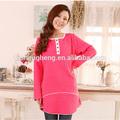 outono 2014 amamentação roupas confortáveis de algodão cor de rosa vestido de noite grávida ak101