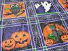 "deep dark halloween night 54""*108"" pe table cloth owl,ghost,black cat,spiderwebs,pumpkin"