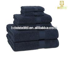 wholesale Navy Soft Quick Dry 100% Cotton Cannon Bath towels