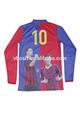 alta qualidade de lazer sportswear padrão listrado futebol camisa de futebol