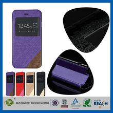"C&T Smart View PU leather Wallet Magnet Design Flip Case Cover for Apple iPhone 6 Plus 5.5"""