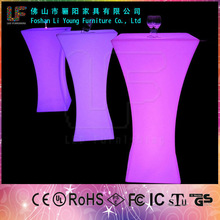 Hot Sales nightclub Flash colors LED party tables and chairs for sale LGL-5411/Professional manufacturer of glowing furiture