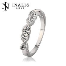 China Big Supplier Tin Alloy 2014 Fashion Crystal Ring Wholesale
