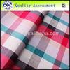 yarn dyed fabric red tartan cotton