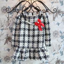 Tax1053 2014 de algodón de lino coreano pequeña princesa niñas temperamento larga- manga cenicienta vestidos para niñas