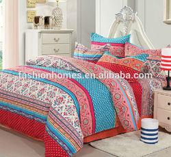 Colorful floral print modern home textile, dubai comforter set
