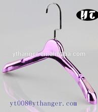 chrome silver plastic hanger hook purple decoration hanger fat hanger