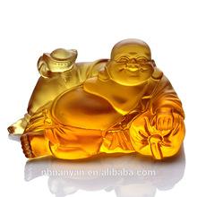 Chinese Maitreya Buddha Folk Crystal Craft