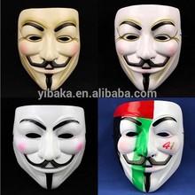 Acient japan style plastic mask horror foe vendetta expression masquerade ball mask on halloween FC90075
