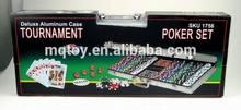 500pcs poker chip game set with aluminum box