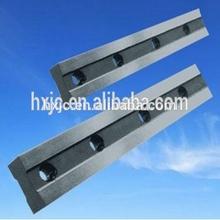 Metal shearing blades in steel industry