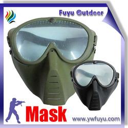 black green paintball mask