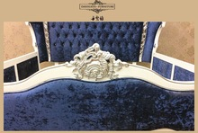 Classic natural wood bed/french rococo crown bed