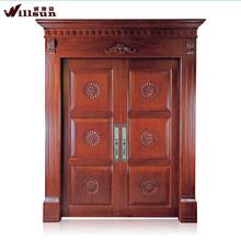 ล่าสุดการออกแบบประตูไม้ที่เป็นของแข็งประตูไม้และหน้าต่างประตูด้านหน้า