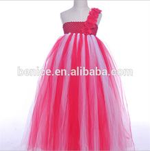 fancy soft mesh one shoulder wholesale girls tutu dress