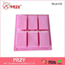 rectangle handmade silicone soap mold , bath silicone soap mold