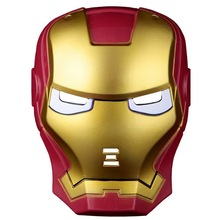 LED mask Iron man Flashing blink man mask animation cosplay glowing Halloween party favor decoration FC90072