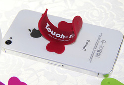 Promotional Silicon phone holder,handset stand,Silicone stand for Iphone