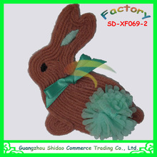 Rabbit design wool and chiffon decoration for shoe flower garment flower baby dress decoration flower
