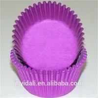 Purple pure color disposable transparent paper baking cases