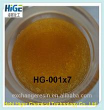 Tratamento e conservação da água, 001 x 7 ácido forte cação resina