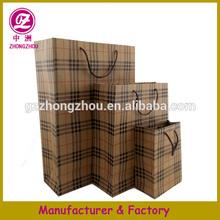 Custom 2014 brown kraft paper shopping bag gift bags with logo printed