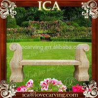 Garden black marble antique park benches