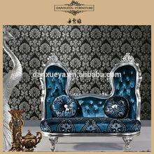 Royal Silver Neo Rococo Luxury Morden love Seats Armchairs