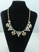 2014 Chain Resin Bead Necklace, Fashion Jewelry