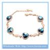France fashion heart of ocean crystal bracelet dubai gold jewelry accessories for women