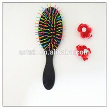 New hair product hot selling / fashion rainbow massage brush