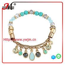 BR4483 J&M beaded charm journey stretch bracelet