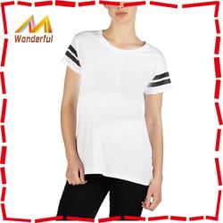 New 95% Cotton 5% Spandex best selling Korea heat transfer tshirt for sexy women wholesale