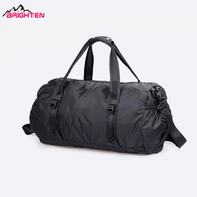 Wholesale custom black nylon foldable travel duffel bag