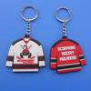Custom Hockey T Shirt PVC Keychain for 2014 Hockey Season