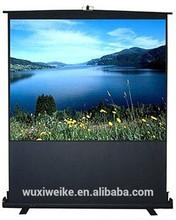 Best price floor pull up projector screen /floor standing projector screen