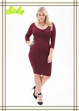 Online Shopping Women Wear Plus Size Elegant Dress Ruched Pencil Dress
