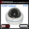 Network home vandalproof h.264 poe indoor 720p onvif p2p hd ip cctv dome camera