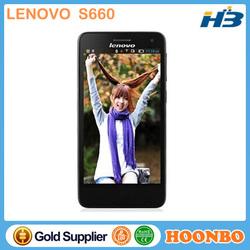 "Touch Screen Smart Phone Cheap Price Lenovophone Barato Bar Phone Lenovo S660 MTK6582 Quad Core 3G 4.7"" IPS QHD Screen"