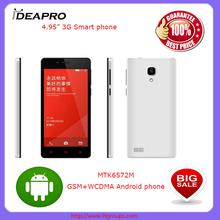 "M5-4.95"" inch new mobile phone MTK 6572 dual core OEM smart mobile phone smart phone"