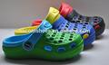 2014 entupir sapatos masculinos, injeção de eva colorida casual tamancos, moda tamancos de madeira