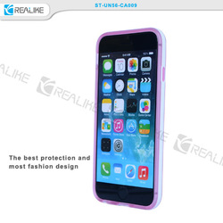 transparent PC back cover with soft TPU case for iphone 6 2 in 1