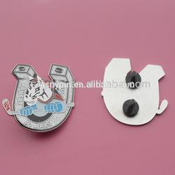 Custom silver glitter hockey lapel pin badge, Knasas City, Hockey Season Gifts