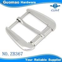 Nickel color large size zinc alloy plain belt buckles