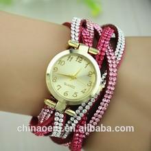 Luxury rhinestone wrap Bracelet gold dial casual women dress watch relogios femininos khaki coupon quartz lady brand watch