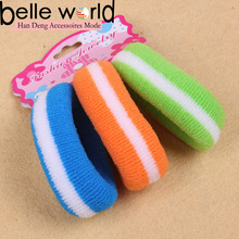 china wholesale strip multicolor soft hair band