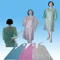 Hot! Descartáveis não tecidos avental, pe avental, vinil impermeável avental