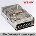weho 150w de salida de doble fuente de alimentación de conmutación de doble interruptor de alimentación